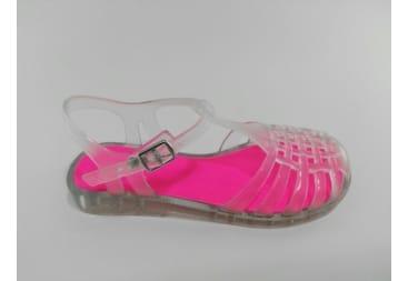 Sandalia transparente agua