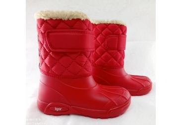 botas de agua nieve Igor con lana. Niño y niña