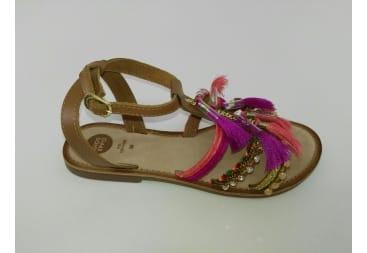Sandalia de piel colores