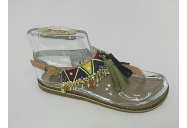 Sandalia dedo triángulos multicolor