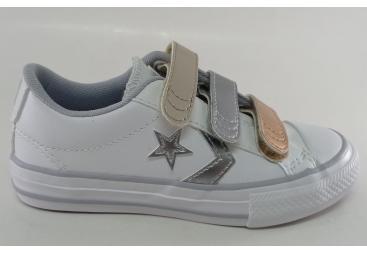 Converse zapatilla de piel blanca