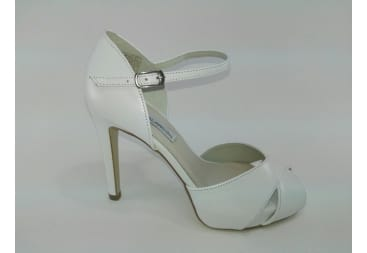 Sandalia de novia piel nacar