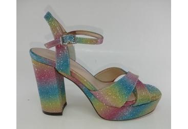 Menbur sandalia de brillo en muchos colores