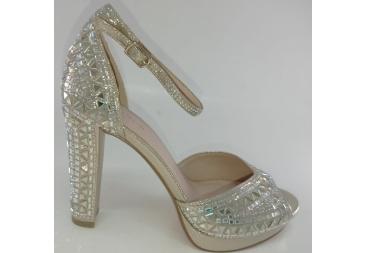 Menbur sandalia de vestir platino