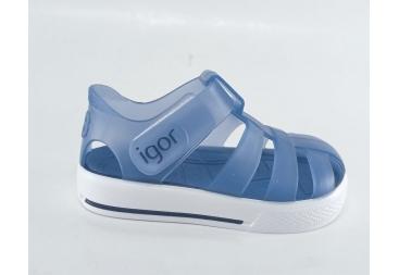 Igor sandalia de goma azul niño