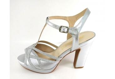 Prestigio sandalia de señora plata