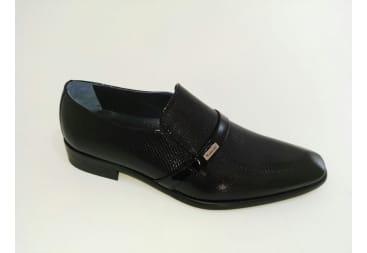 Zapato de piel charol N picado