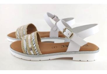 Isa Miel sandalia blanca