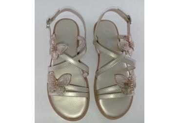 Oca Loca sandalia niña vestir oro