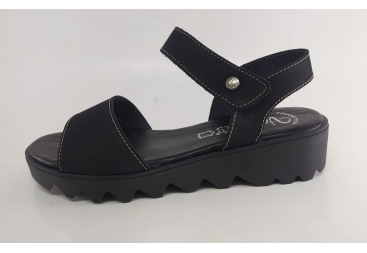 Valerias sandalia señora en negro