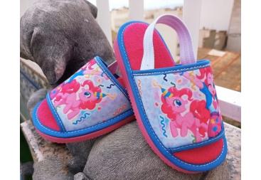 Zapatilla casa niña rosa unicornio