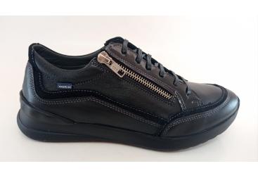 Zapato todo piel negro