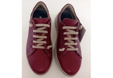 Zapato señora burdeos