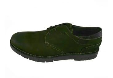 Zapato piel marrón choco